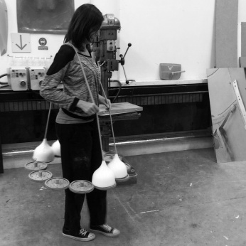 In the making for flockOmania by jewellery artist Zoe Robertson with dance artist Natalie Garrett Brown