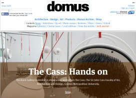 domus - The Aram Gallery - showing flockOmania by Zoe Robertson - The Cass: Hands On