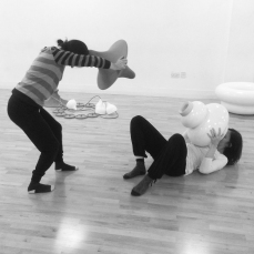 flockOmania - Zoe Robertson Dance studio Day Natalie Garrett Brown and Amy Voris