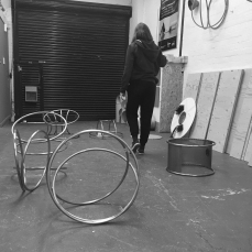 Natalie Garrett Brown visits the dual works with Zoe Robertson Oct 2015 1