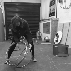 Natalie Garrett Brown visits the dual works with Zoe Robertson Oct 2015 2