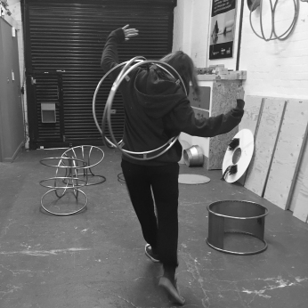 Natalie Garrett Brown visits the dual works with Zoe Robertson Oct 2015 3