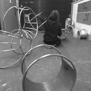 Natalie Garrett Brown visits the dual works with Zoe Robertson Oct 2015 4