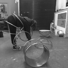 Natalie Garrett Brown visits the dual works with Zoe Robertson Oct 2015 5