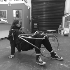 Natalie Garrett Brown visits the dual works with Zoe Robertson Oct 2015 6
