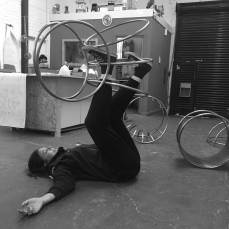 Natalie Garrett Brown visits the dual works with Zoe Robertson Oct 2015 7