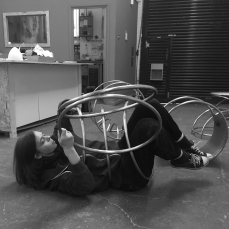 Natalie Garrett Brown visits the dual works with Zoe Robertson Oct 2015 8