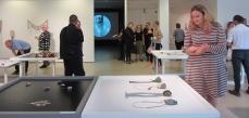 Opening of KORU6 exhibition at Imatra Art Museum including flockomania by Zoe Robertson